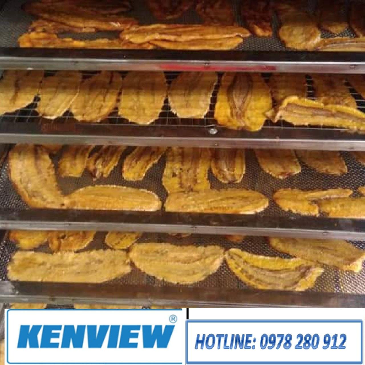 Máy sấy chuối dẻo, máy sấy hoa quả Kenview 0978 280 912