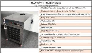 máy sấy hải sản Kenview Ms20- 100% inox 304