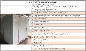 Máy sấy hải sản Kenview MS100 Panel