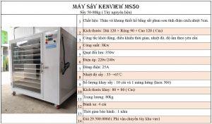 Máy sấy hải sản Kenview Ms50- Sắt sơn tĩnh điện