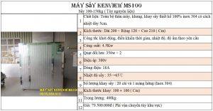 Máy sấy hải sản Kenview MS100 Inox 304