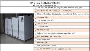 Máy sấy hải sản Kenview Ms200